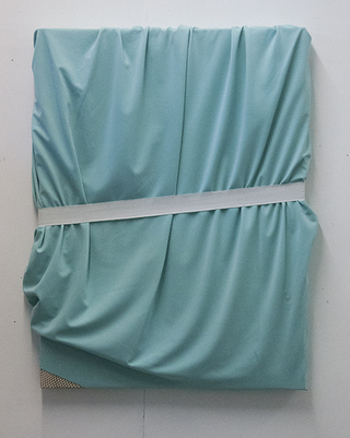 Bodified Frame 13, 2012, lycra fabrics on wood, 100 x 70 x 4 cm